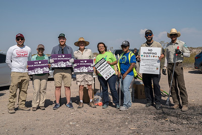 The board of the Friends of the Organ Mountains-Desert Peaks poses for a photo.