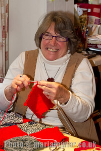 Janet.  Two days of Open House at Anna's for members of the Grange Singers, Dovercourt Choral Society and the Harwich Society. The invitation was to sew together knitted squares to form blankets to be taken to Kosovo by the Hope & Aid Direct charity (http://www.hopeandaiddirect.org.uk/) who work closely with the Mother Teresa Society in the Balkans.The temperature has dropped to -22 degrees in the region, and donations of wool for knitting or crocheting into squares for more blankets will be appreciated.  The Mayoress, Eleanor Brown, was joined by sewing friends, including the former Mayor and Mayoress, Steph & Eileen Tyrer, whose association with aid to the Balkans goes back to 1999 at the start of the Kosovo conflict. Multi-coloured blankets have been produced over these two Open House Days with the aid of coffee & cake and home-made bread & cheese snacks to keep them going. (Anna Rendell-Knights)