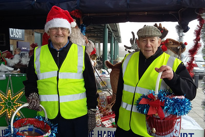 Santa's Rotary Elves with Rudolph & Santa's Sleigh at Morrisons Supermarket, Dovercourt.