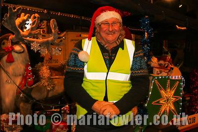 Rotary Elf Neil McCrone,  Rudolph & Santa's Sleigh, Rotary Club of Harwich & Dovercourt