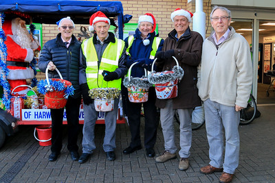 Santa's Rotary Elves with Rudolph & Santa's Sleigh at ASDA Supermarket, Dovercourt.