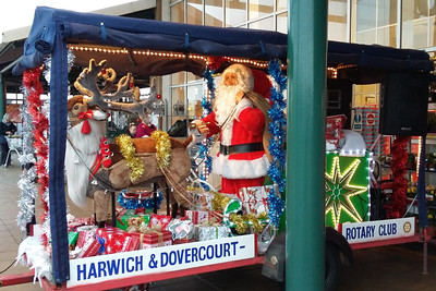 Rotary Club of Harwich & Dovercourt, Santa's Sleigh at Morrisons Supermarket, Dovercourt.