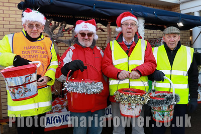 Rotary Elves L-R: Denis Foster, Alan Thomas, Colin Hance and Adrian Dan.