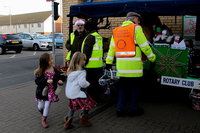 Rotary Club of Harwich and Dovercourt, Rudolph and Santa Christmas Collections 2014 at ASDA Supermarket, Dovercourt. www.facebook.com/RudolphSantaHarwichRotary