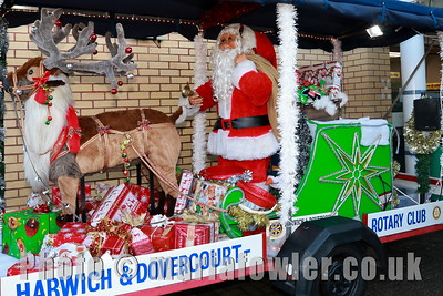 Rudolph & Santa Christmas collections 2017, Rotary Club of Harwich & Dovercourt at ASDA, Dovercourt.