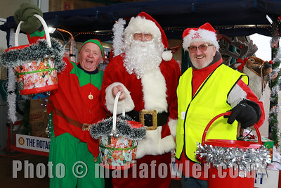 Charlie Bull, Santa Claus and Alan Thomas.