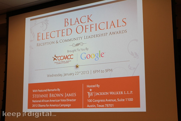 Black Elect Officials Reception 2013