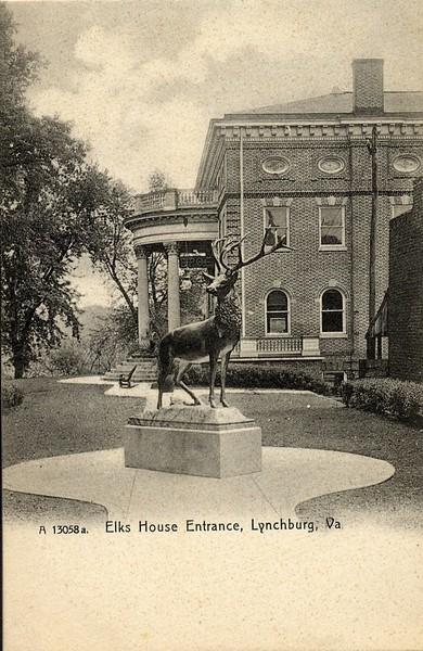 Postcard Elks Lodge Entrance (05051)