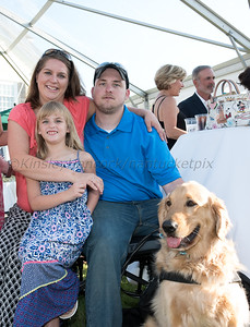 Nantucket Holiday for Heroes hosts Service Dogs for Heroes Reception at the Westmoor Club, Nantucket, MA, August 7, 2016