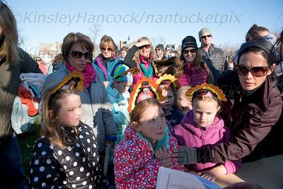 Nantucket Atheneum Cold Turkey Plunge at Children's Beach, November 26, 2015