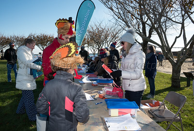 Nantucket Atheneum Turkey Plunge at Children's Beach, Nantucket, Massachusetts, November 23, 2017