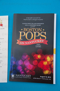 Nantucket Cottage Hospital, Boston Pops fundraiser with Katie Couric, Matthew Morrison, Keith Lockhart & Orchestra Members, Jetties Beach, August 10, 2013