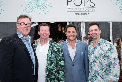 Nantucket Cottage Hospital Boston Pops Concert with Keith Lockhart and Australian Bee Gees Show at Jetties Beach, August 8, 2015