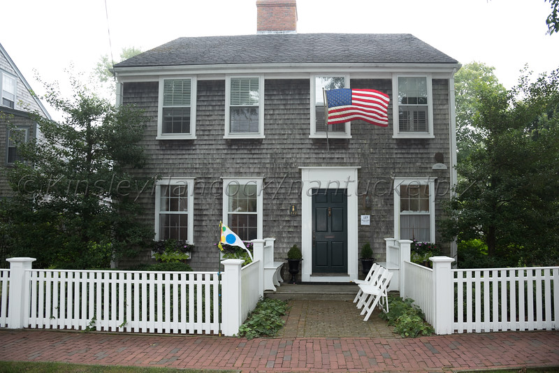 Nantucket Preservation Trust Fête on upper Main Street, Nantucket, MA August 11, 2016
