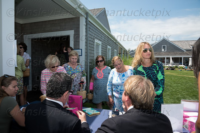 "Nantucket Preservation Trust Summer Lecture& Luncheon featuring authors of ""A Walk to Elsie's"", Hutton Wilkinson & Flynn Kuhnert, Great Harbor Yacht Club, Nantucket, July 14, 2016"