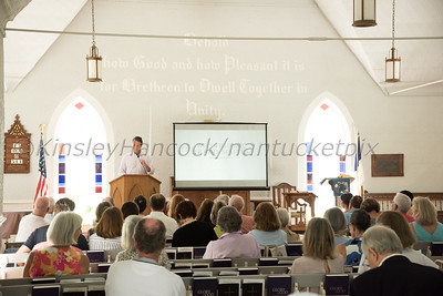 Nantucket Preservation Trust Lecture with Brent Hull at the 'Sconset Chapel and Lunch at the Chanticleer, Siasconset, MA July  20, 2017