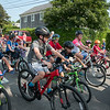 Bike parade, 'Sconset Trust games, flagpole dedication ceremony, July 4th, 2018, Siasconset, Massachusetts