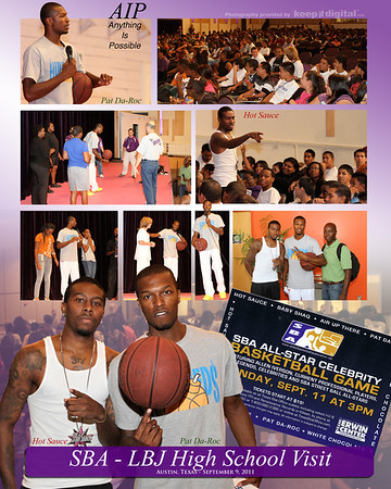Street  BBall LBJ High School Visit Photos