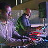 The Digital Crates Event Services crew gets the music going at Top Golf 12/21/13.