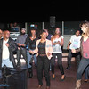 Digital Crates Event Services crew had the dance floor full on the terrace of Top Golf.