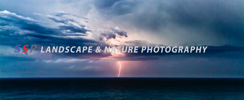 Sydney storm over the ocean