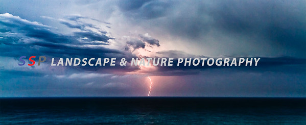 Sydney storm over the ocean - Panoramic Print