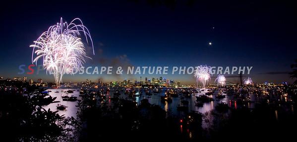 New Year's Eve Fireworks, Sydney Australia