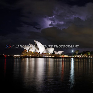 Opera House on a stormy night, Sydney Australia