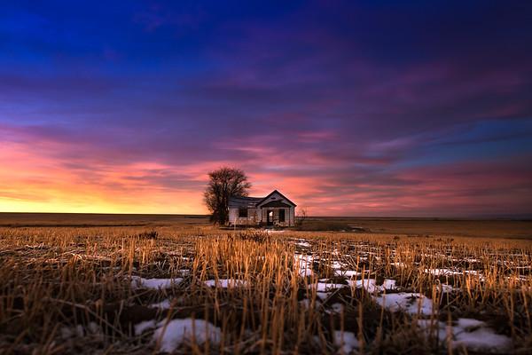 Abandoned Farmhouse, Sunrise January 2019