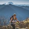 that's Mt. Rainier behind Bird