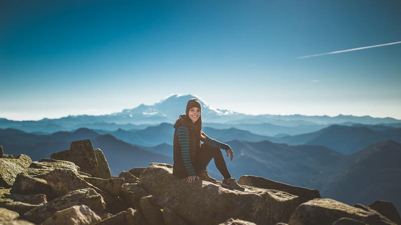 my good friend Amanda with Mt. Rainier
