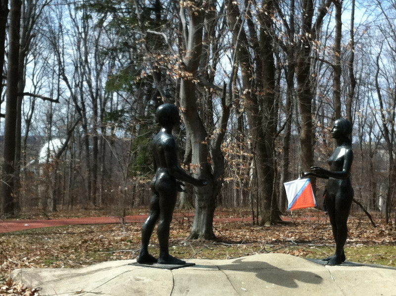 This couple stands ready to welcome you to the IU Campus!
