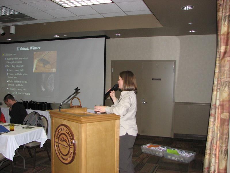Kentucky Bat Biologist Brooke Hines speaks about Bats of Kentucky