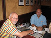 Tom Kopp and Matthew Robbins.  Selecting their entree.