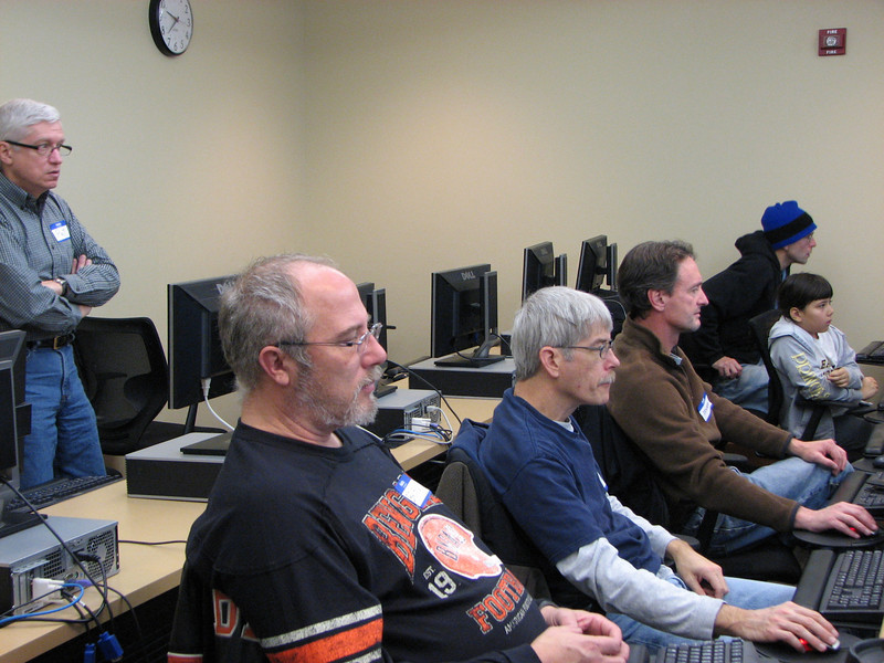 OCIN Course Setting Class.  Standing: Pat Meehan.  Seated left to right: Brian DeYoung, Shane Dawalt, Ben Hart, Caterina Svobodny, Tom Svobodny.