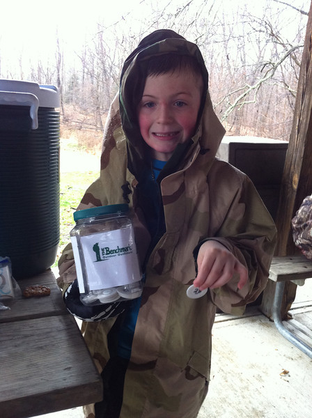 Jack draws the winning number for the Benchmark Outfitters Gift Certificate.