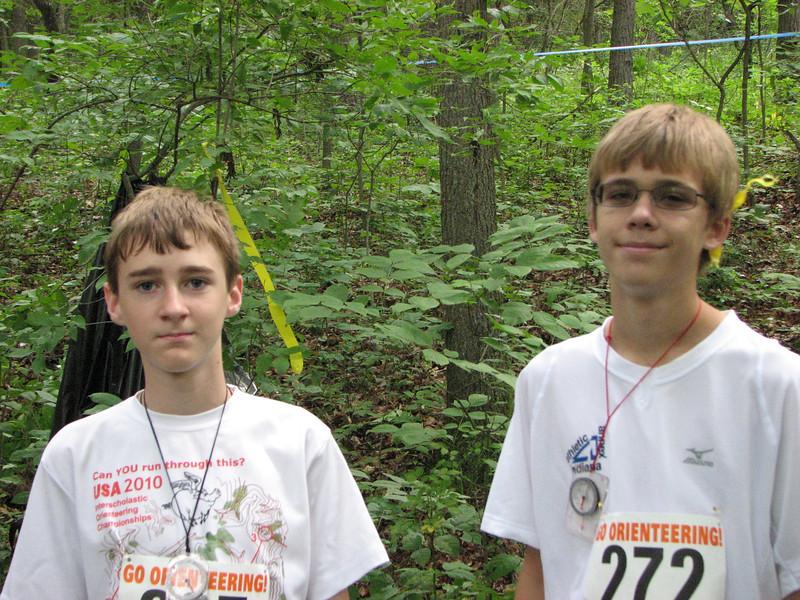 Sam and Hunter at Saturday start.