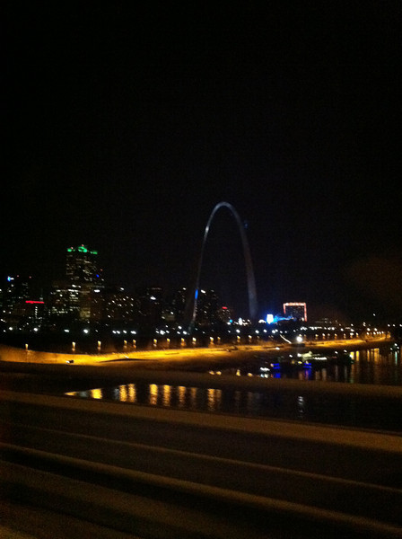 Gateway Arch at Night - March 6 - photo by Brennan Hertel.