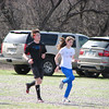 Juniors warming up, February 18.  Dan O'Leary, Izzy Bryant
