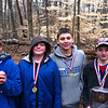 Ohio Valley Interscholastics - JV Champion Team, March 2 at Bernheim Forest.  Jordan Hertel (4th grade), Skyler Hertel (5th grade), Alex Yancey (7th grade), Dylan Poe (8th grade).