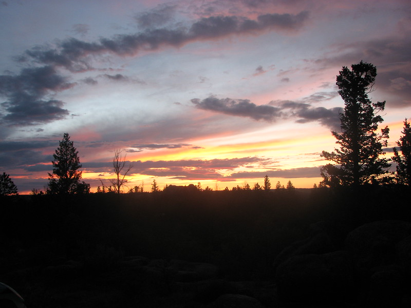 Sunset at Vedawoo Rocks Campsite