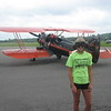 Priscilla gets ready for biplane ride over Ottawa