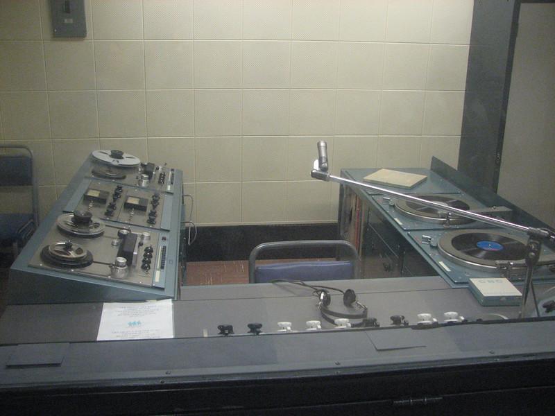 Diefenbunker, Canada's cold war underground command center, Carp, Ontario - CBC Radio emergency broadcast studio.