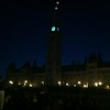 Canadian Parliament at night
