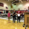 6th grade awards - Lilly, Amber, Izzy.  photo by Ron Ross.