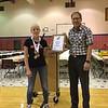 7th grade awards - Priscilla.  photo by Ron Ross.