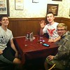 dinner at Schwabl's in Buffalo, NY.  Nathan, Jamie, Wyatt