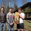 UCHS team, 1st place Varsity (Noa, Eric, Jordan).  Mahlon not pictured.