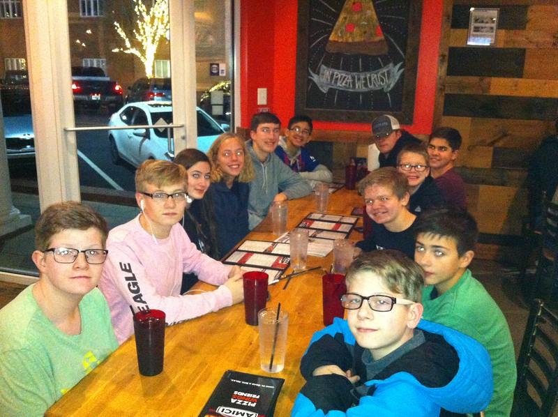 Friday dinner at Amici's in Covington, GA
