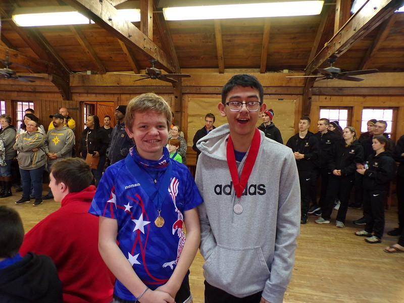 Awards on Sunday.  M-16, Ethan and Peyton.